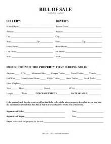 bill of sale template free printable equipment bill of sale template form generic