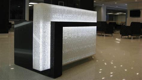 Illuminated Reception Desk American Chemistry Council Reception Desk Sensitile