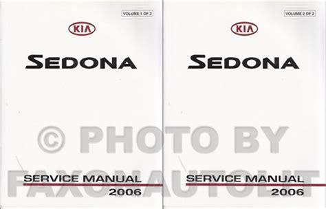 car repair manual download 2003 kia sedona lane departure warning 2006 kia sedona repair shop manual set original