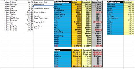 home improvement tracking template excel best free
