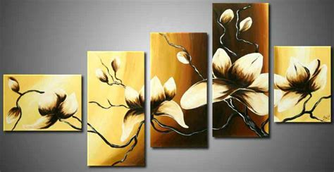 3 panel modern grace landscape canvas painting flowers