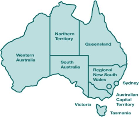 regional map of australia directory of gynaecological oncology services cancer