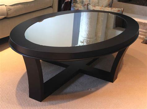 oval glass and wood coffee table oval glass and wood coffee table style thelightlaughed com