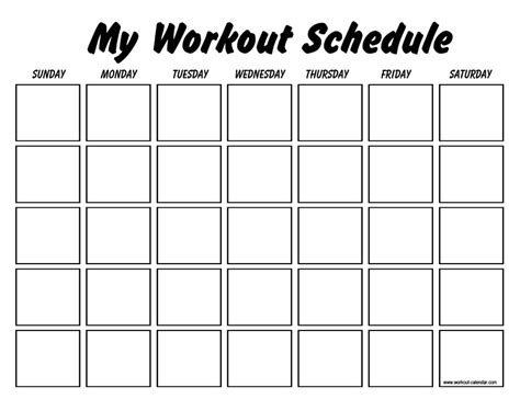 workout schedule template professional workout template format excel word and pdf