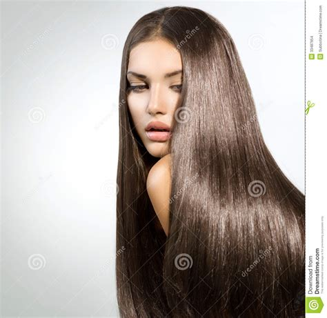 models with stright hair long healthy straight hair stock photo image of healing