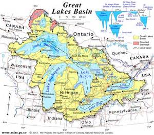 map of lakes great lakes basin regional map