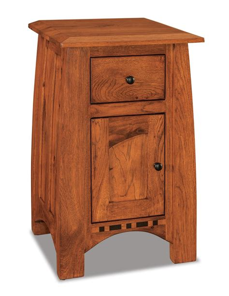 Nightstand Size by Amish Boulder Creek Condo Size Nightstand With One Drawer