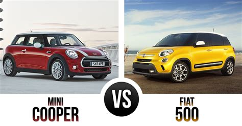 the battle of the quot boxes quot mini cooper vs fiat 500