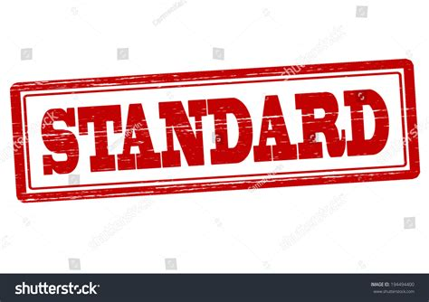 how is a standard st with word standard inside vector illustration 194494400