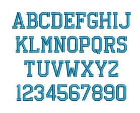 athletic block machine embroidery font alphabet