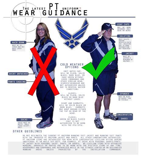 printable version of uniform guidance air force releases guidance for wear of ptu gt incirlik air