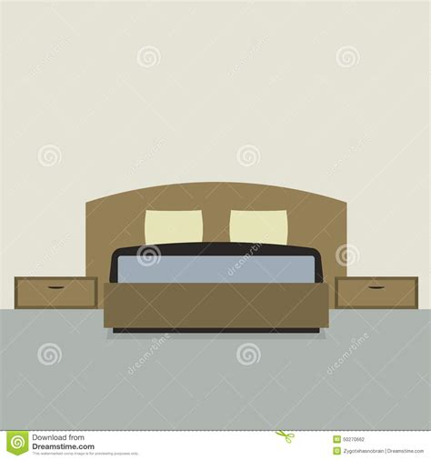 bedroom design vector flat design double bedroom stock vector image 50270662