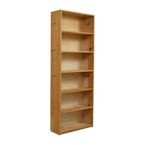 49 custom wooden six shelf bookcase storage