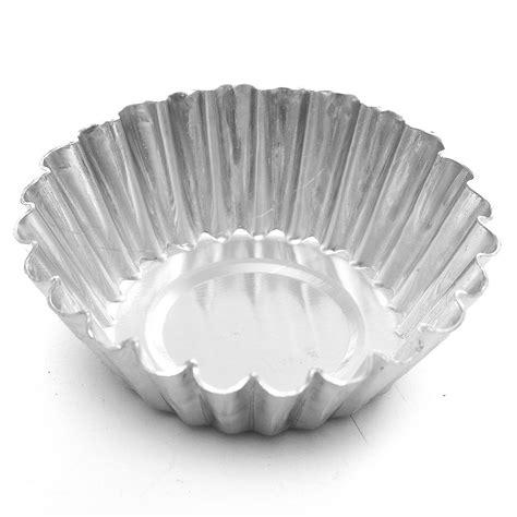 Alumunium Foil Silver Kue 10pcs aluminum foil egg mould baking cups tart muffin cupcake cases silver 7 5cm on aliexpress