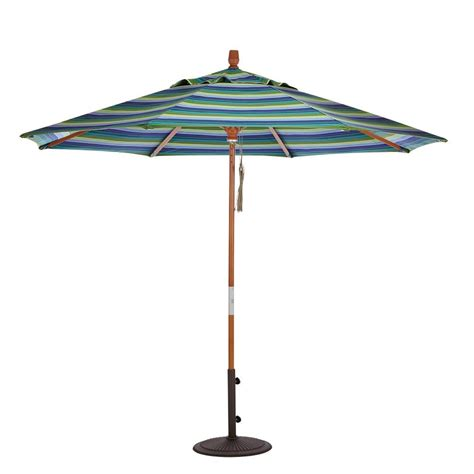 Half Umbrella For Patio Blue The Wall Brella 9 Ft Patio Half Umbrella In Teak Sunbrella Otwb 9s Tk The