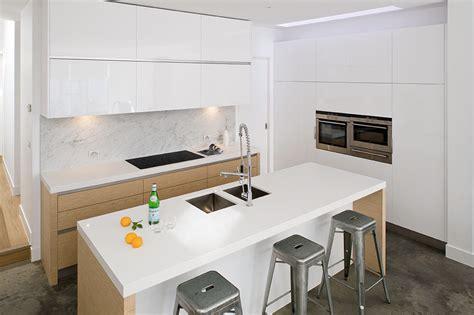 Wooden Kitchen Cabinets Designs white and oak handleless kitchen true handleless