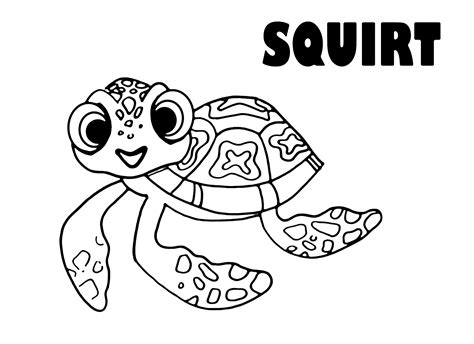 nemo squirt coloring pages finding nemo into the mind of the artist