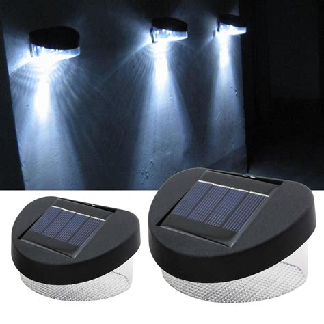 solar powered 2 8 led fence gutter light l outdoor