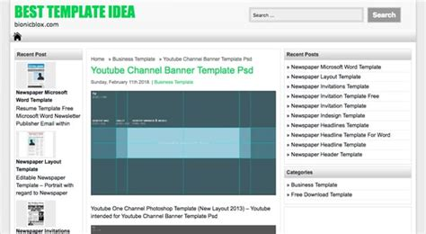 Free Youtube Banner Templates To Download For Your Channel Free Email Banner Templates