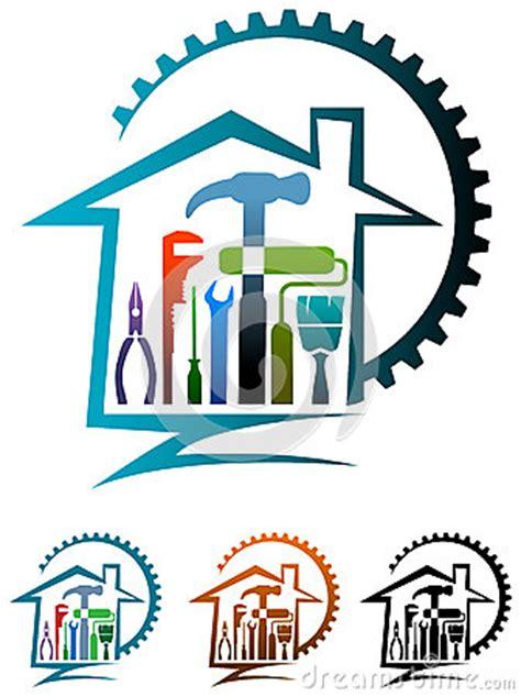 home remodeling logo design house renovation logo stock vector image 50824595