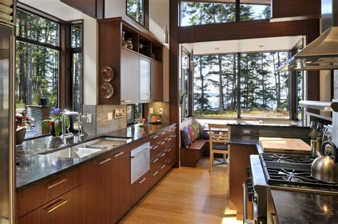 big kitchens designs large kitchen window and nook