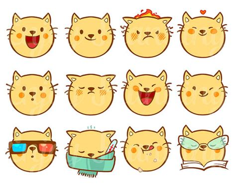 printable stickers cute printable cute cats kawaii stickers cats kawaii planner
