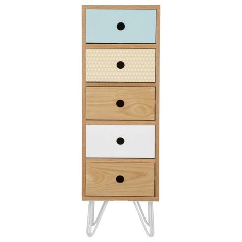 Commode Chiffonnier by Chiffonnier 5 Tiroirs Quot Shulg Quot Multicolore