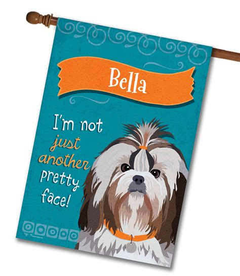 shih tzu house personalized shih tzu house flag 28 x 40 custom printed flags flagology