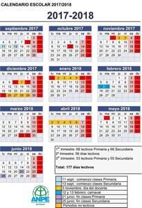 Calendario 2018 Buap Calendario Escolar Curso 2017 18