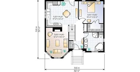 Floor Plan For A 940 Sq Ft Ranch Style Home Traditional Style House Plan 1 Beds 1 Baths 940 Sq Ft
