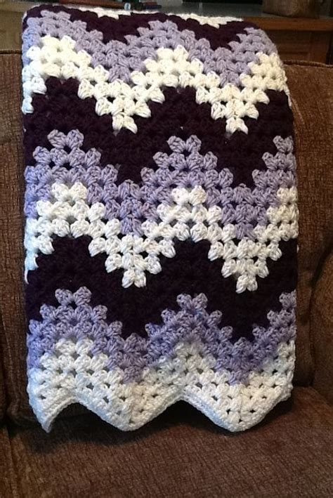 granny zig zag crochet pattern crochet blanket afghan chevron granny ripple purple and