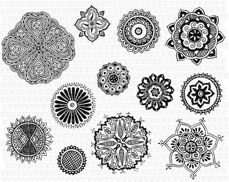 henna tattoo designs free printable printable henna floral motifs mandalas digital graphics