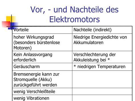 Brennstoffzellenauto Vor Und Nachteile by Der Elektromotor