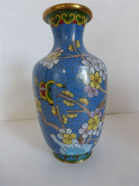 vintage cloisonn 233 cherry blossom vase from historique on