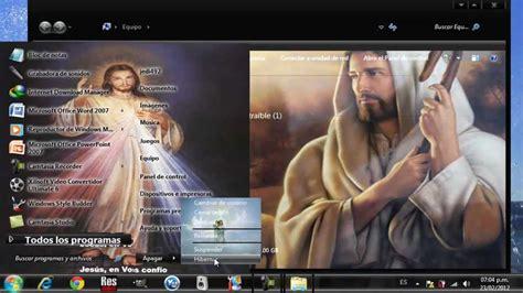 windows 10 con diot tema de jesucristo para windows 7 youtube