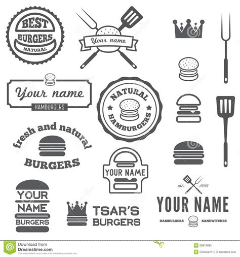 Logo Etiketten by Set Of Logo Labels Stickers And Logotype Stock Vector
