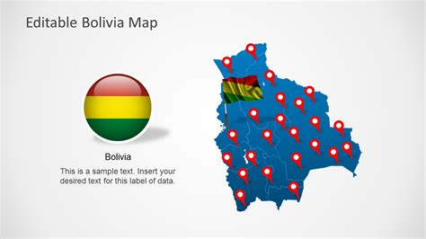 Editable Bolivia Map Template For Powerpoint Slidemodel Editable Powerpoint Templates