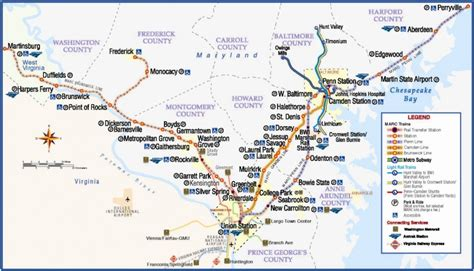 transit maps official map marc commuter rail map