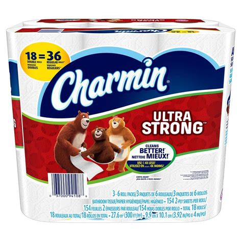 charmin ultra strong toilet paper 18 rolls
