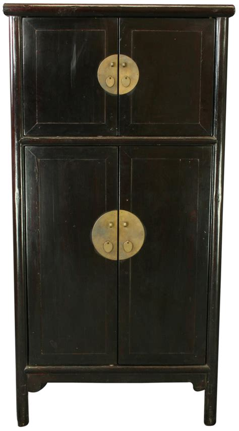 armoire wardrobe storage cabinet antique chinese black armoire storage cabinet wardrobe ebay