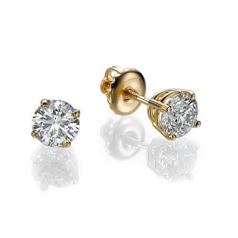 T D Stud Earring Gold Gold Gold Stud Earrings Earrings Yellow Gold Earrings