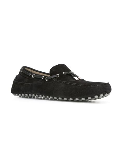 homme loafers homme classic loafers in black for lyst