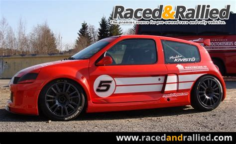 renault clio v6 white renault clio v6 trophy race cars for sale at raced