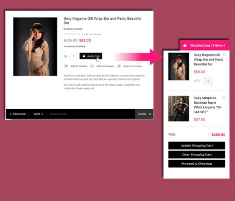 update cart event magento jm lingerie responsive theme for lingerie store by