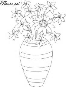 flower pot coloring page flower pot coloring page 13