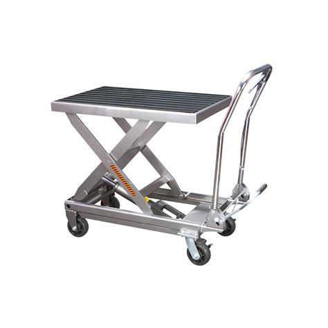 table cart 1000 lbs capacity hydraulic table cart