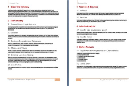 business plan template free business model template free sanjonmotel