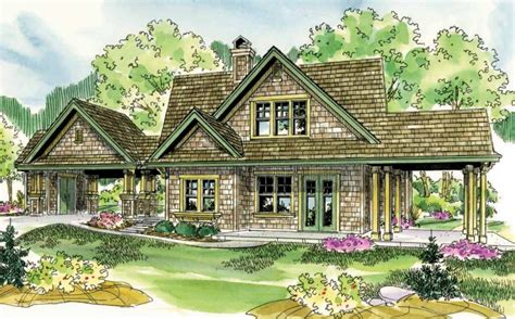 One Story Lake House Plans by Houzz One Story Shingle Style Lake Home Studio