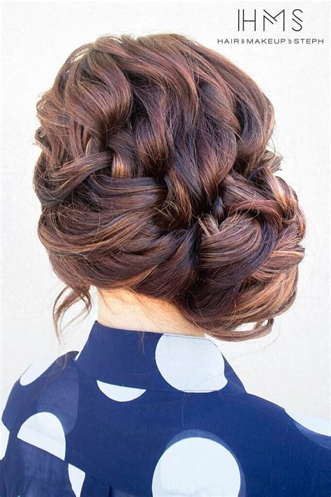 formal side french braid updo 20 exciting new intricate braid updo hairstyles popular