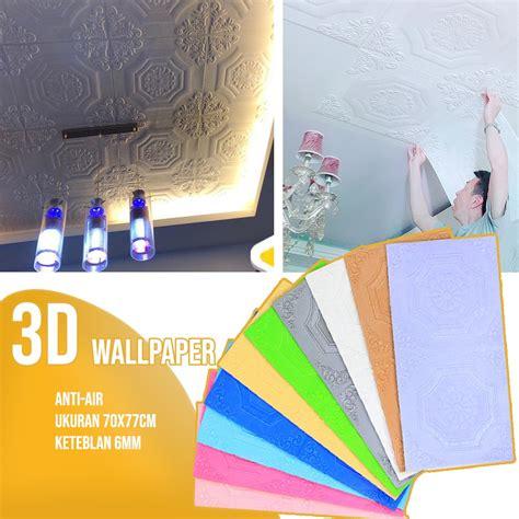 diy wallpaper dinding foam  bata kayu wallpaper bata stiker mural dekorasi kamar tidur stiker